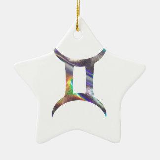 Gémeaux d'hologramme ornement étoile en céramique