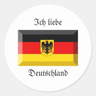 Gemme de drapeau du Deutschland Autocollant Rond