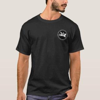 Genghis Khan/manteau mongol de B&W de chemise de T-shirt