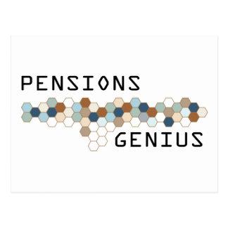 Génie de pensions carte postale