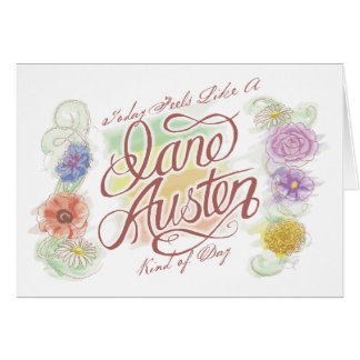 Genre de Jane Austen de carte de note de jour