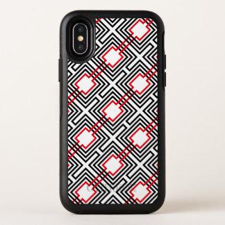 Géométrique rouge et blanc noir