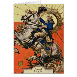George Washington à cheval Carte