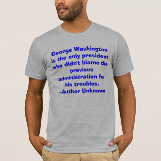 George Washington est des seuls le t hommes de T-shirt