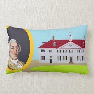 George Washington et Mt Vernon Coussin Rectangle