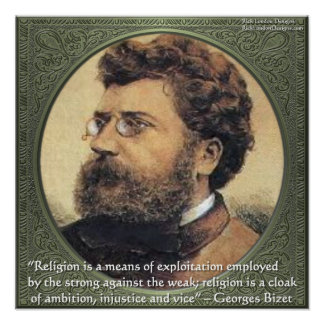 Georges Bidet Religion Quote Poster