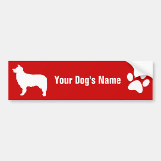 Gepersonaliseerd Border collie ボーダー ・ コリー Bumpersticker