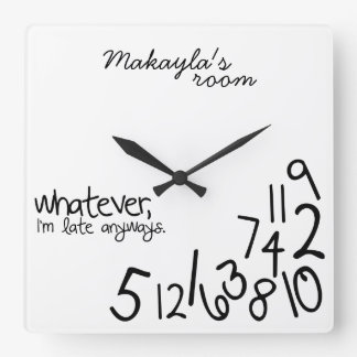 gepersonaliseerd - ik ben recente anyways vierkante klok