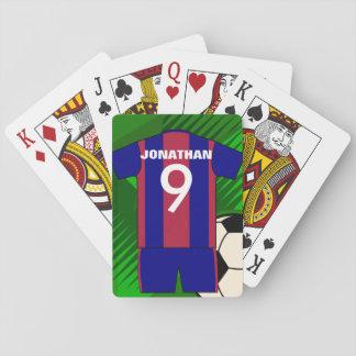 Gepersonaliseerd voetbal Jersey en bal Pokerkaarten