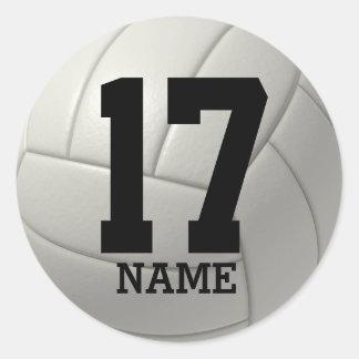 Gepersonaliseerd Volleyball (voeg uw naam en Ronde Sticker