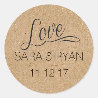 Gepersonaliseerde het sticker-Huwelijk van de Ronde Sticker