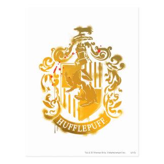 Geploeterd CREST van Hufflepuff - Briefkaart