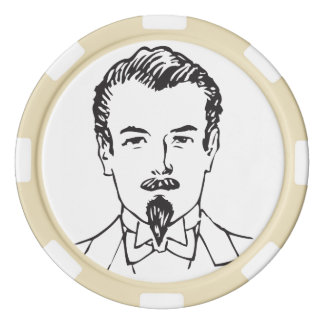 Gerçure pimpante rouleau de jetons de poker