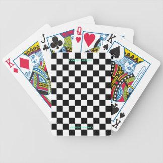Geruite vlagspeelkaarten poker kaarten