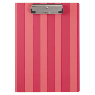 Geschetst Roze op Roze Strepen Klembord
