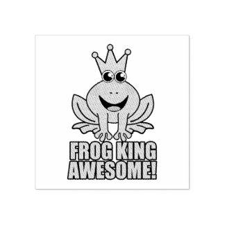 Geweldige de Koning van de kikker Rubberstempel