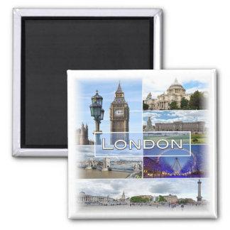 Gigaoctet * L'Angleterre - Londres Magnet Carré