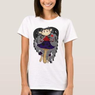 gilet gothique de T-shirt de dames d'elfe, gilet