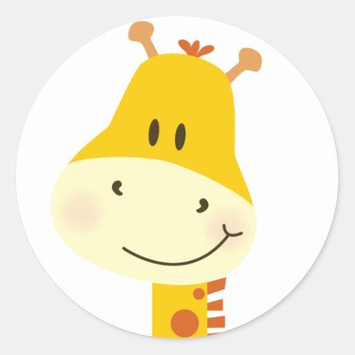 Girafe Autocollants Ronds