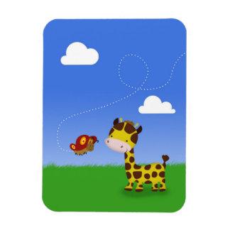 Girafe et papillon mignons - aimant flexible magnet flexible
