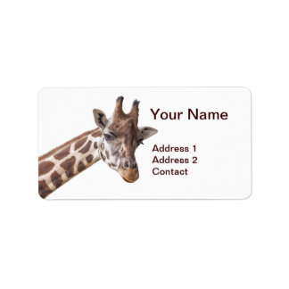 Girafe - étiquette de adresse