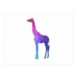 Girafe géométrique avec l'idée vibrante de cadeau carte postale