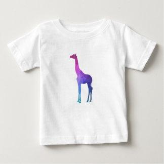 Girafe géométrique avec l'idée vibrante de cadeau t-shirt pour bébé