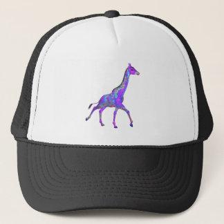 Girafe hippie de pourpre de style de scintillement casquette