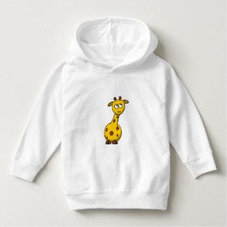 Girafe jaune animale mignonne - chandail de sweat