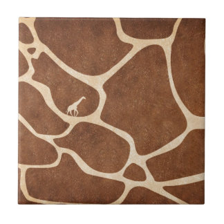 Girafes ! conception exotique de poster de animal  petit carreau carré