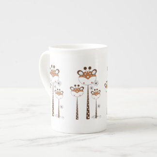 Girafes d'amusement -- Brown Mug