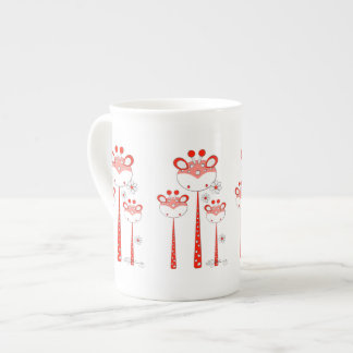 Girafes d'amusement -- Rouge Mug