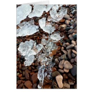 Glace claire sur la carte de voeux de Pebble Beach