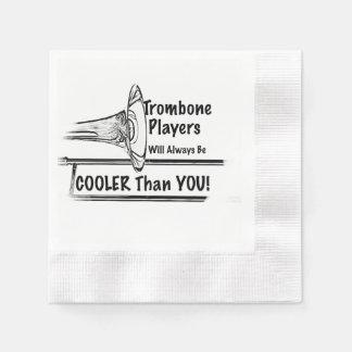 Glacière de musicien de trombone que vous diner de serviettes jetables