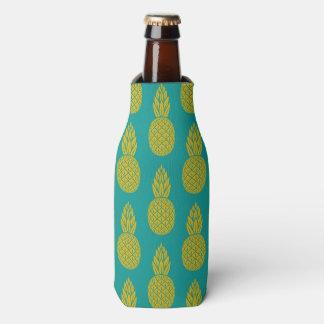 Glacière hawaïen tropical de bouteille de motif
