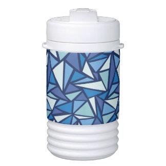 Glacière Pour Boisson Motif bleu abstrait de Crsytal de glace