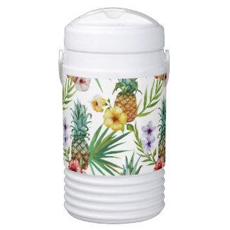 Glacière Pour Boisson Motif tropical d'ananas d'aquarelle de thème