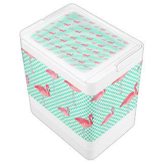 Glacière Pour Canettes Flamants roses tropicaux avec le pois en bon état