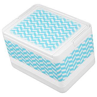 Glacière Pour Canettes Motif bleu lumineux blanc en arête de poisson de