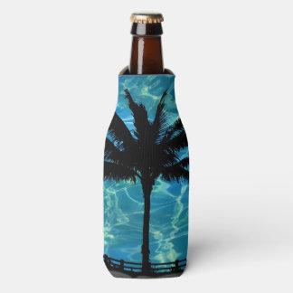 Glacière tropical de bouteille d'été de palmiers