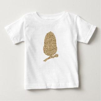 Gland de scintillement d'or t-shirt pour bébé