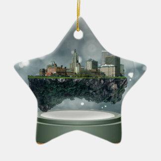 Globe de neige d'île de Providence Ornement Étoile En Céramique