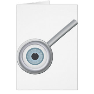 Globe oculaire dans des cartes de note de loupe