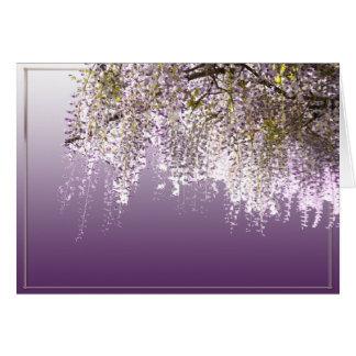 Glycines lilas toute carte de voeux d'occasion
