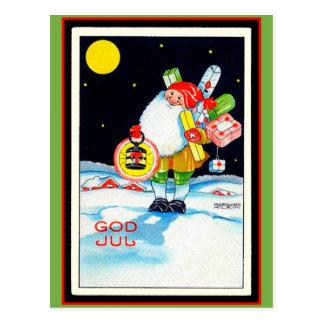 Gnome suédois vintage de juillet de Dieu d'image Carte Postale
