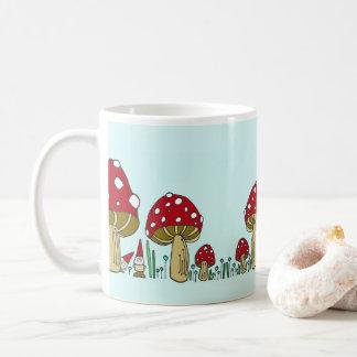 Gnomes et tasse de champignons