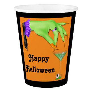 Gobelets En Papier Bile de main de sorcière et cocktail Halloween de