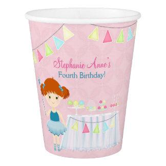 Gobelets En Papier Célébration douce de petit gâteau de ballerine