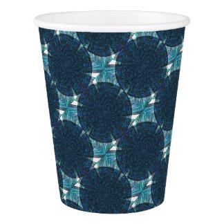 Gobelets En Papier Cercles abstraits de bleu