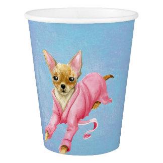 Gobelets En Papier Chiwawa dans des tasses de papier d'un chien de